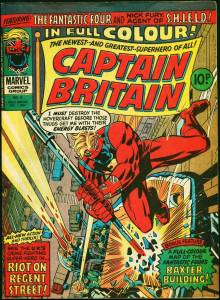 Betsy Braddock first appears in Captain Britain vol. 1, #8 (1976)