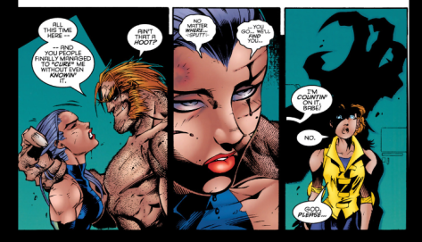this next encounter with Sabretooth doesn't work out as well