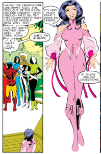 welcome to the X-Men, Psylocke... etc.