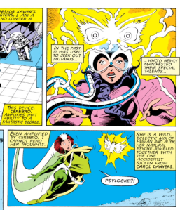 Psylocke's butterfly telepathic projection