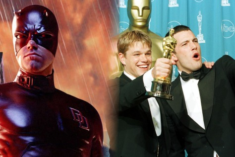Bad Daredevil (Affleck) and his only shot an an Oscar (with Matt Damon caught in the middle).