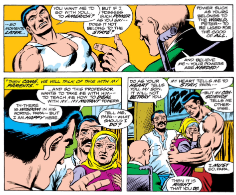 Professor X recruiting Piotr from Giant Size X-Men #1 (1975)