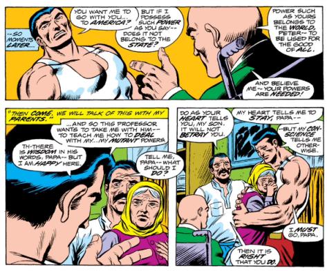 Professor X recruiting Piotr from Giant Size X-Men #1 (1975)