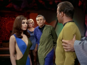 "Sherry Jackson as the sexy robot in ""What Are Little Girls Made Of"""
