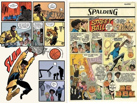 "Comics readers of a certain age recognize the tribute to ""Street Ball"""