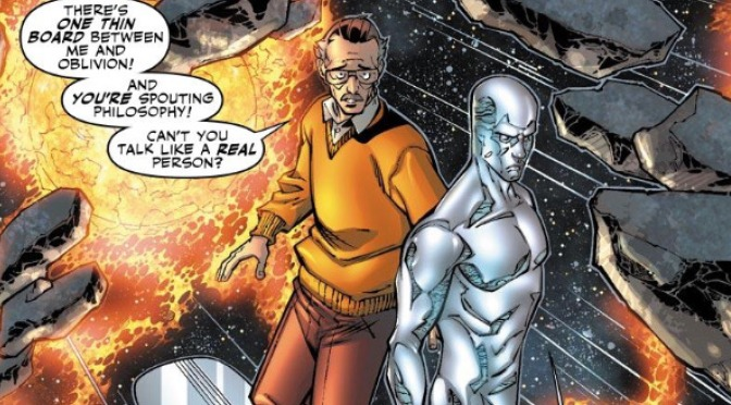 Stan Lee and the Silver Surfer